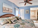 An en-suite bathroom completes the master bedroom oasis.