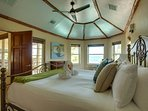 Second Floor Master Bedroom, King Bed Facing Caribbean