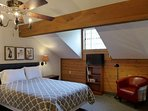 Loft Bedroom with Queen Bed and 31 inch Flat-Screen.