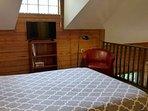 Loft Bedroom with Ceiling Fan.