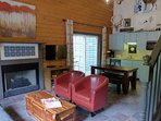 Cabin Entrance. With Large Flat-Screen TV.