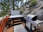 Deck with Grill and Hot Tub