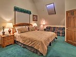 You'll love retreating to the master bedroom after your daily adventures!