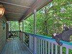 Lush foliage surrounds the home!