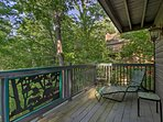 Grab a glass of wine to enjoy on the furnished deck!