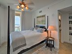 Rest easy in this 4-poster queen bed to wake up with glimmering ocean views.