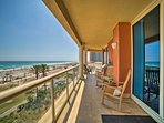 Sweeping views of Pensacola Beach are showcased at this 3-bed, 3.5-bath unit.