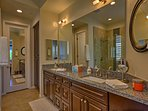 There's lots of space in the en-suite master bathroom.
