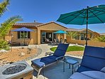 Lounge by the firepit, cold beer or glass of wine in hand.