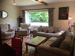 sitting room with hadnmade Escher wood floor