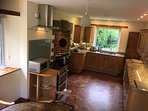 Kitchen with Aga and custom granite counters