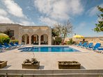 Private spacious pool deck area