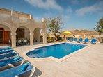 Private pool deck area