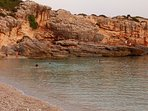 Lagadakia beach 2 Km