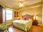 Guest bedroom features king bed as well!