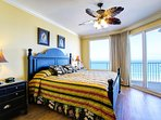 Master features king bed with panoramic views of the Gulf!
