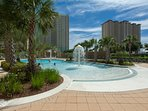 Cool off in one of several pools and the kids will love the splash area