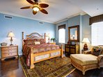 Master bedroom is palatial with king bed, enormous bath and private, gulf-view sun-room!