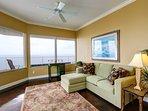 Master bedroom sun-room features queen sofa sleeper!