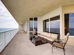 Updated patio furniture and the best views in Panama City Beach!