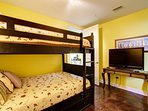 5th guest bedroom with full over full bunks!