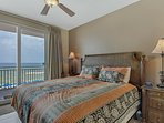 Master Suite #1 features a KIng bed and amazing Gulf views