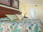 Sweet dreams await in the king bed Master Suite