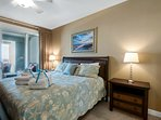 The Master suite offers a King bed and private balcony access with amazing Gulf views
