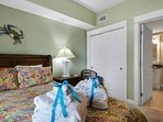 Guest Bedroom offers a Queen bed and private access to the Guest Bath