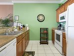 Kitchen With Zesty Green Accent Colors