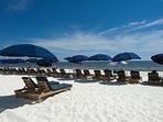 Ask us how to get your beach chairs and umbrellas when you stay at Emerald Beach Resort