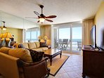 Extremely Spacious Living Area with those Stunning Gulf Views
