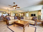 The Ultra High-End Living Room also features a Huge Flat Screen TV with Comcast, Ceiling Fan for Maximum Comfort, and...
