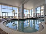 Indoor Pool with Expansive Windows and Beautiful Views!
