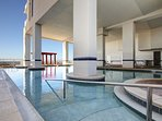 Entrance to HUGE Indoor Pool
