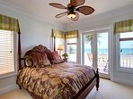 The 3rd floor King Master Suite is SWEET! Breathtaking gulf views, tons of natural light, and a private balcony...