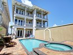 You'll never want your vacation to end when you stay at Fantasea Beach House. An immaculate Gulf Front 5 Bedroom, 5.5...