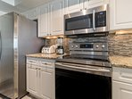 High end appliances and laundry center located just off the kitchen make convenience a given!
