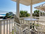 Second floor balcony with gorgeous gulf views!