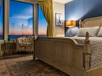 The King bed makes this the perfect place to end a long day at the beach