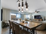 Formal dining with seating for six