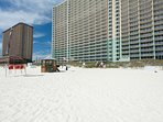 The beach is your back yard at Emerald Beach Resort 1636. Make it your next Vacation Getaway!