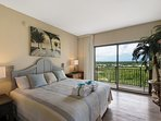 Guest Bedroom #2 offers floor to ceiling doors with private balcony