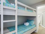 Bunk beds provides an extra sleeping area for kids