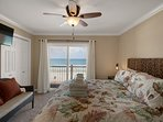 Level Two welcomes you to the Master Suite, Gulf front views, private balcony and coastal chic decor