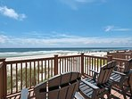 The deck on Level One offers great seating options and amazing views of the Gulf, prepare yourself to watch the...