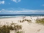 Sand dunes, shimmering white sands, emerald green waters make this the ultimate in beach vacations