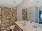 Master Bath offers a tub shower combination