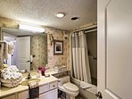 Rinse off the sand in the second bathroom before bed.