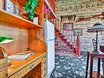This historic apartment has AC, free WiFi, and all of the other comforts of home